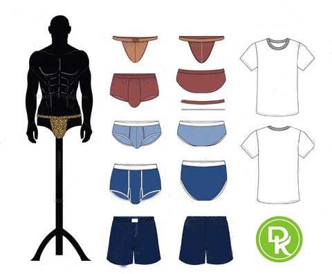 انتخاب سایز لباس زیر مردانه